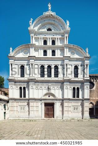 Church of Saint Zachary in Castello, Campo San Zaccaria, Venice, Italy - stock photo