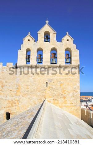 Church of Saintes-Maries-de-la-Mer, Camargue, France. - stock photo