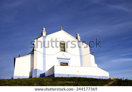 Church of Salvador in Arraiolos village, Portugal - stock photo