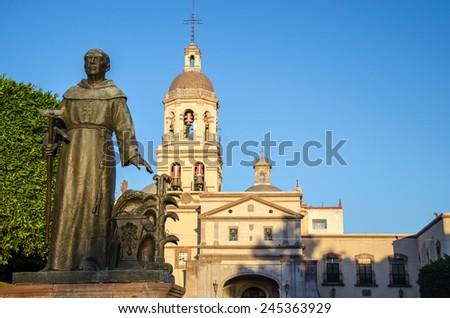 Church of San Francisco in Queretaro, Mexico - stock photo