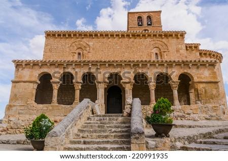Church of San Miguel in San Esteban de Gormaz, Soria, Spain - stock photo