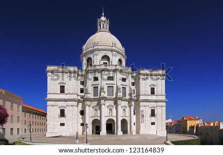 Church of Santa Engracia - National Pantheon in Lisbon, Portugal - stock photo