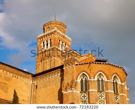 Church of Santa Maria Gloriosa dei Frari, Venice - stock photo