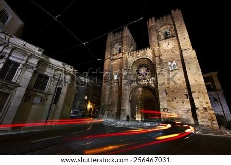 Church of Santa Maria la maior, Lisbon, Portugal - stock photo