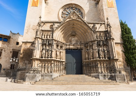 Church Of Santa Maria On Placa De Jaume in Vilafranca del Pened���©s in Catalonia, Spain