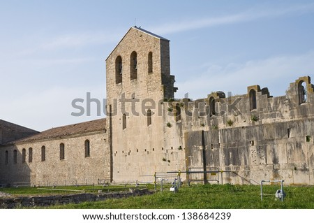 Church of SS. Trinit��� . Venosa. Basilicata. Italy.
