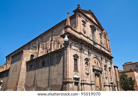 Church of St. Domenico. Ferrara. Emilia-Romagna. Italy.