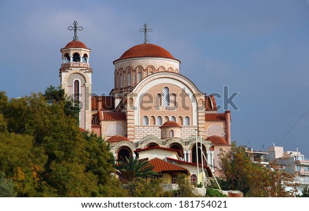 Church of St. Ioannis Rossos in Thessaloniki, Greece - stock photo
