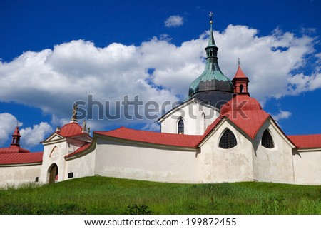 Church of St. John of Nepomuk, Zelena Hora, Zdar, Czech Republic