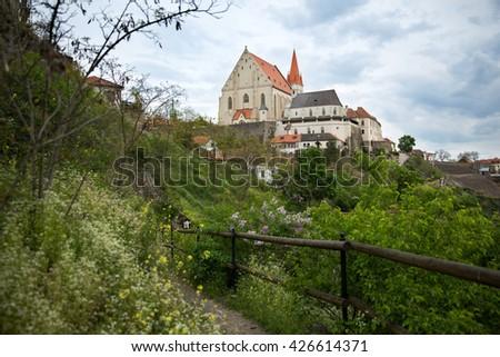 Church of St. Nicholas and St. Wenceslas Chapel in Znojmo, South Moravia, Czech Republic - stock photo