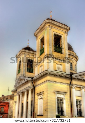 Church of St. Nicholas in Tallinn - Estonia - stock photo