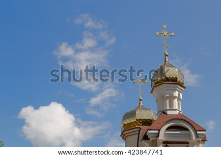 Church of St. Nicholas in the village Romanowicz Gomel district, Belarus
