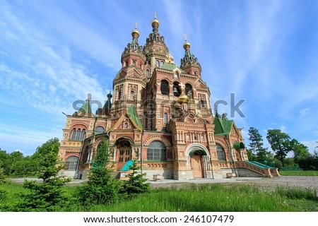 Church of St. Peter and Paul Church, Peterhof, Saint Petersburg, Russia - stock photo