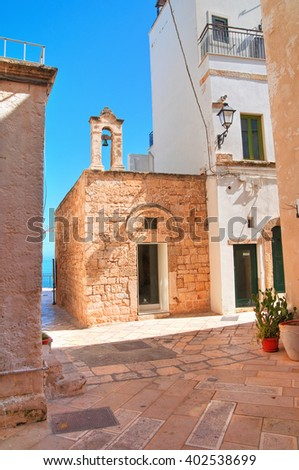 Church of St. Stefano. Polignano a mare. Puglia. Italy.