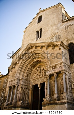 Church of St. Trophime in Arles, Provence, France - stock photo