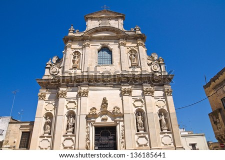 Church of the Alcantarines. Lecce. Puglia. Italy.
