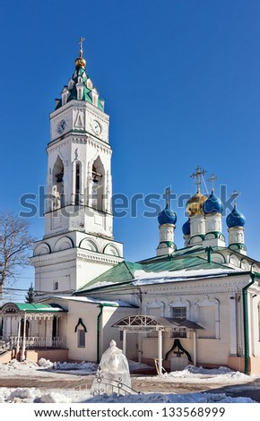 Church of the Annunciation most ancient of the escaped temples in the city of Tula, remained almost in an invariable kind.