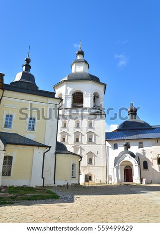 Church of the Archangel Gabriel in Kirillo-Belozersky monastery near City Kirillov, Vologda region, Russia.