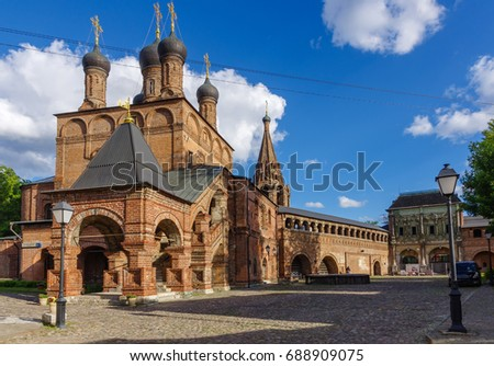 Church of the Assumption of the Blessed Virgin Mary in beautiful and well preserved piece of old Moscow: Krutitskoe podvorie, Moscow