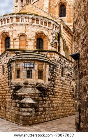 Church of the Dormition, Jerusalem, Israel - stock photo