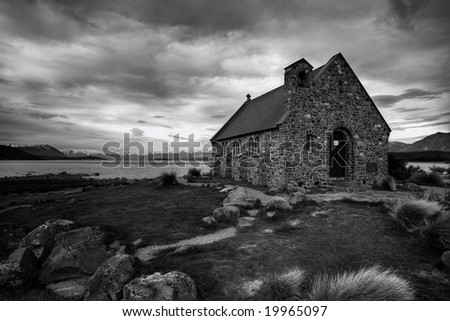 Church of the Good Shepherd on a lake in New Zealand