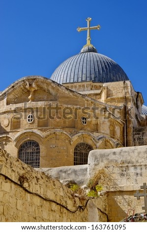 Church of the Holy Sepulchre. Jerusalem, Israel - stock photo