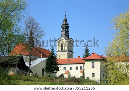 Church of the Holy Spirit and Jesuit monastery in Nowy Sacz in Poland