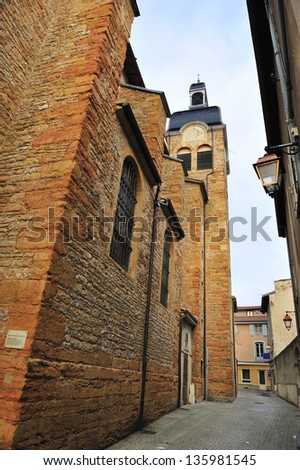 Church of the Notre Dame Assumption in Neuville, Lyon, France - stock photo