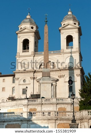 church of the Santissima Trinit��?���  dei Monti - stock photo