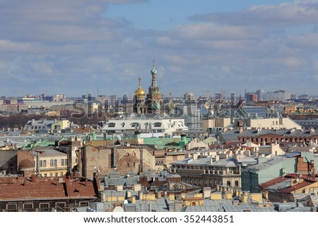 Church of the Savior on Blood in St. Petersburg, Russia. - stock photo