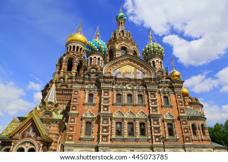 Church of the Saviour on Spilled Blood in St. Petersburg, Russia - stock photo