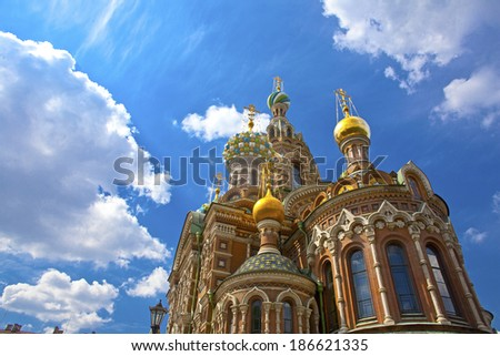 Church of the Saviour on Spilled Blood, St. Petersburg, Russia  - stock photo