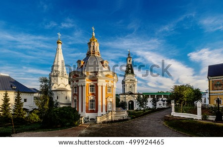 Church of the Smolensk Icon of the Holy Mother (1746 - 1753), Trinity Lavra of St. Sergius, Sergiev Posad, Russian Federation.