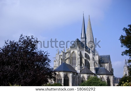 Church of vendome in france
