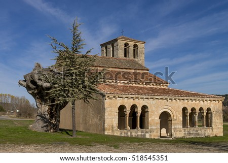 Church of Virgen de la Vega, Romanesque style, close to Pedraza village, Segovia, Spain.