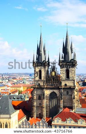 Church of Virgin Maria Before Tyn, Prague, Czech republic - stock photo