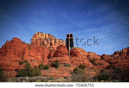 Church on a hill - stock photo