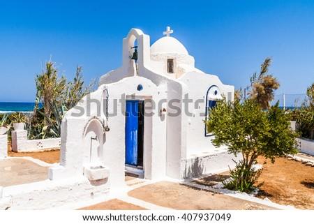 church on Crete, Greece - stock photo