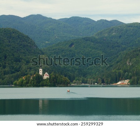 Church on Lake Bled Slovenia Julian Alps