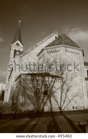 Church on Metro State Campus, Denver, CO - stock photo