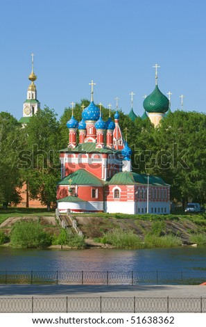 Church over river - stock photo