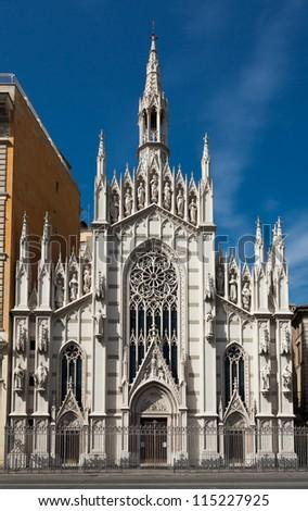 Church Parr Sacro Cuore del Suffragio in Rome, Italy - stock photo