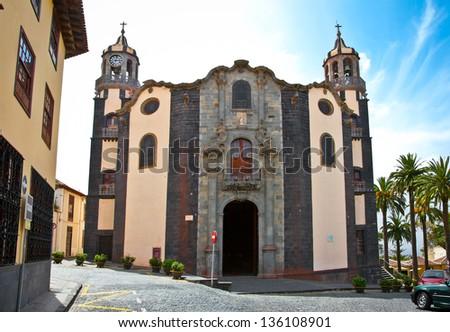 Church Parroquia de La Concepcion in Orotava, Tenerife, Canary Islands. Spain. - stock photo