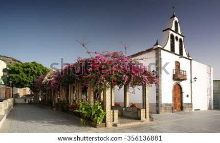 Church San Miguel Archangel in Tazacorte (La Palma, Canary Islands) - stock photo