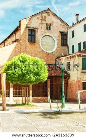 Church San Nicolo dei Mendicoli, Venice Italy. - stock photo