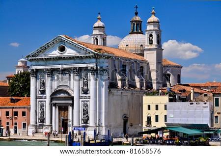church Santa Maria del Rosario Venice, Italy - stock photo