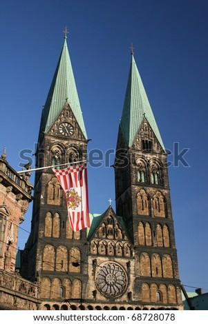 Church St.-Petri-Dom in Bremen, Germany - stock photo