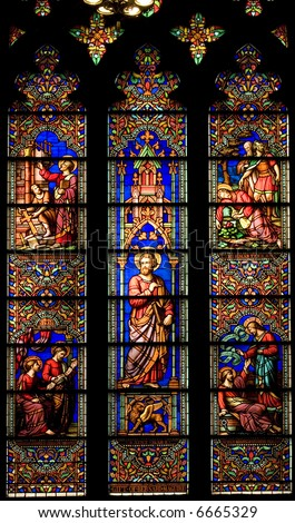 Church.  Stained glass