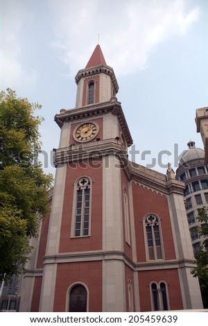 Church, Tianjin, China - stock photo