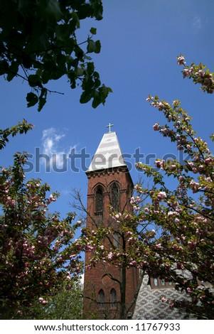 Church Tower Paducah Kentucky - stock photo